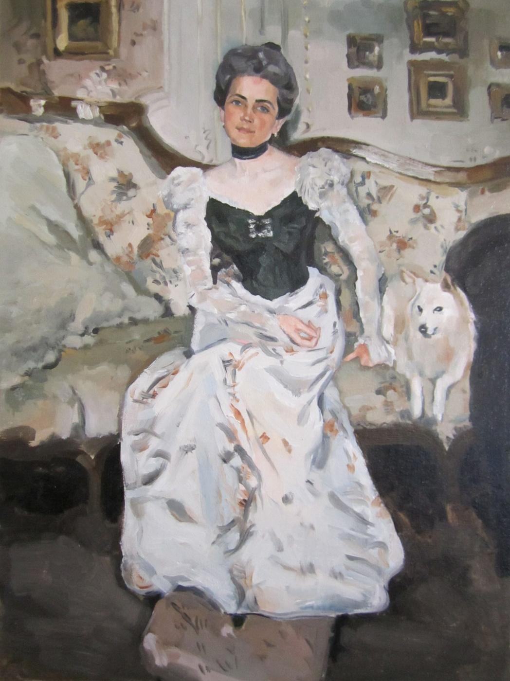 (no name). Copy of the portrait of Princess Yusupova V. Serov (academic work)