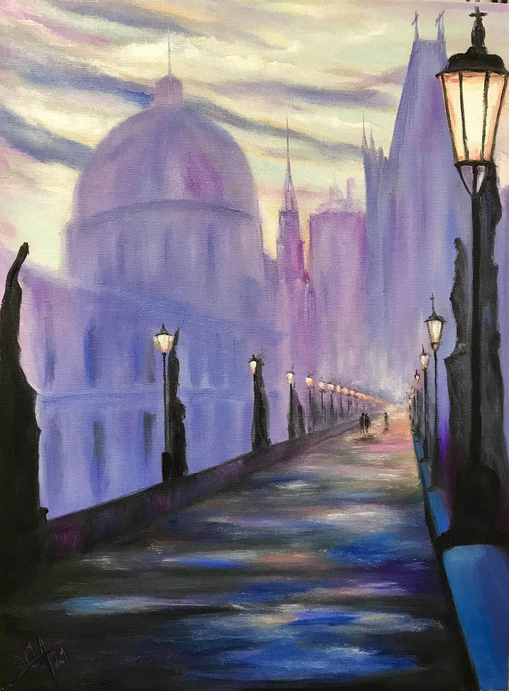 Svetlana Arkhipova. Lilac evening in Venice