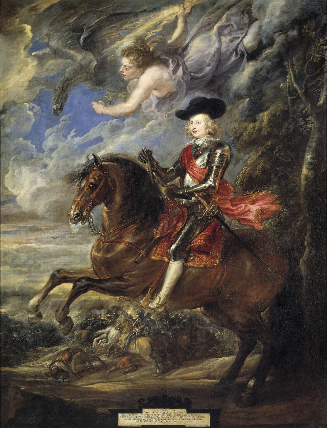 Peter Paul Rubens. The cardinal-infant Ferdinand of the Austrian at the battle of Nördlingen