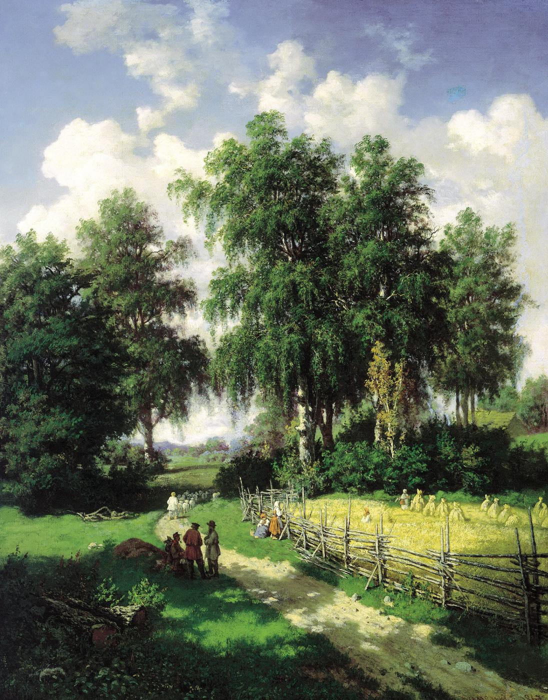Valerian Konstantinovich Kamenev. View near Gatchina