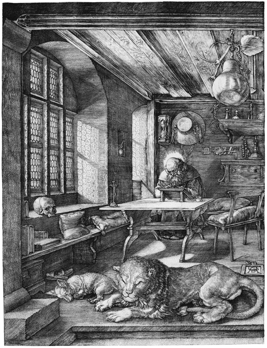 Albrecht Dürer. St. Jerome in the cell