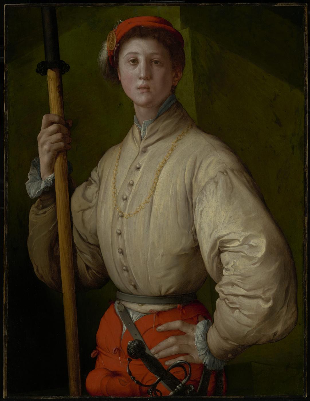 Agnolo Bronzino. Portrait of a halberdier (possibly Francesco Guardi)