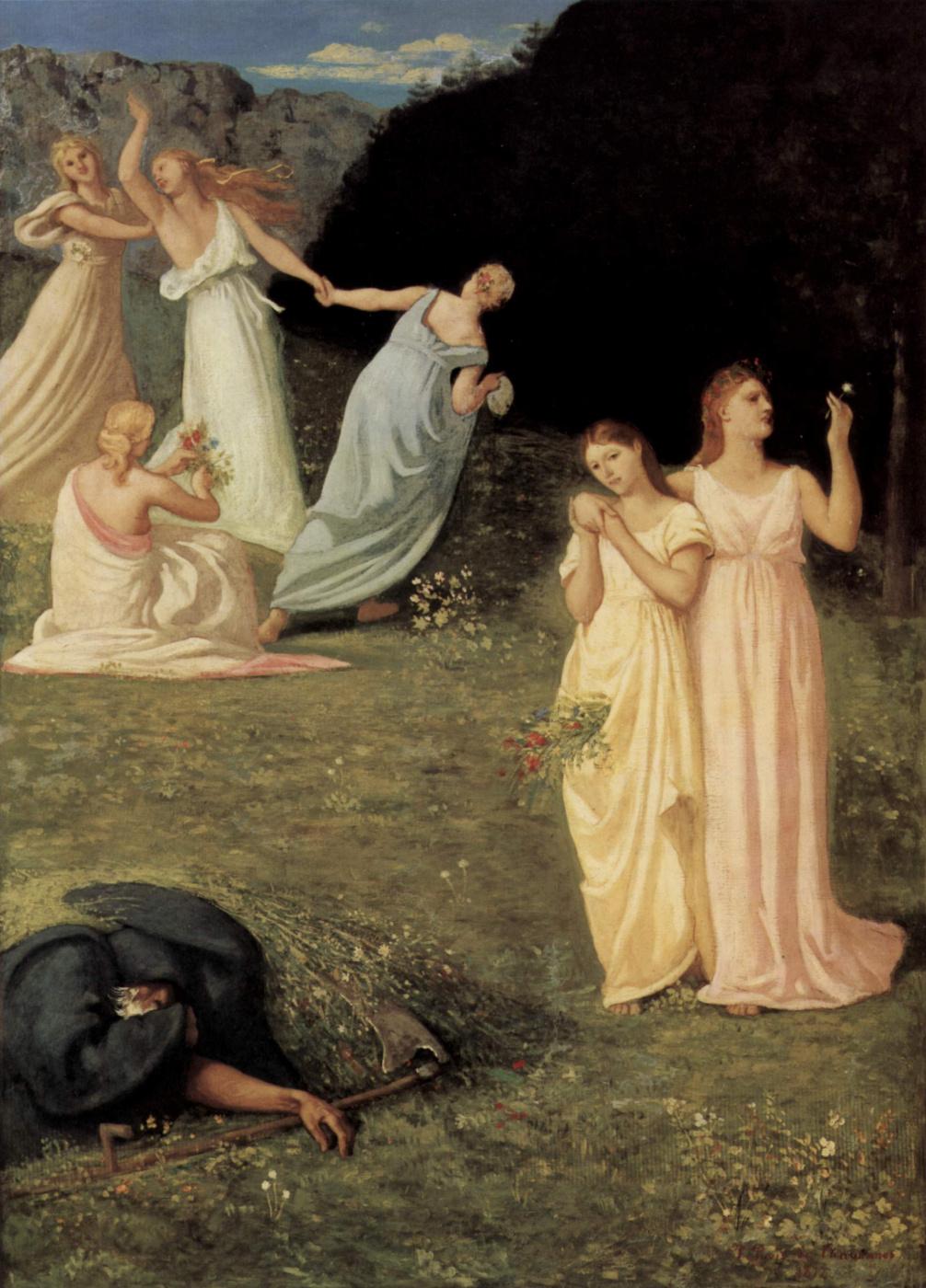 Pierre Cecil Puvi de Chavannes. Death and girl