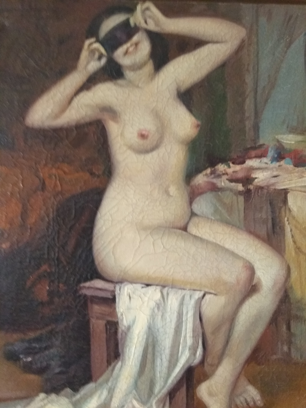 "Alexander Serdyukov. ""Nude with a mask"""