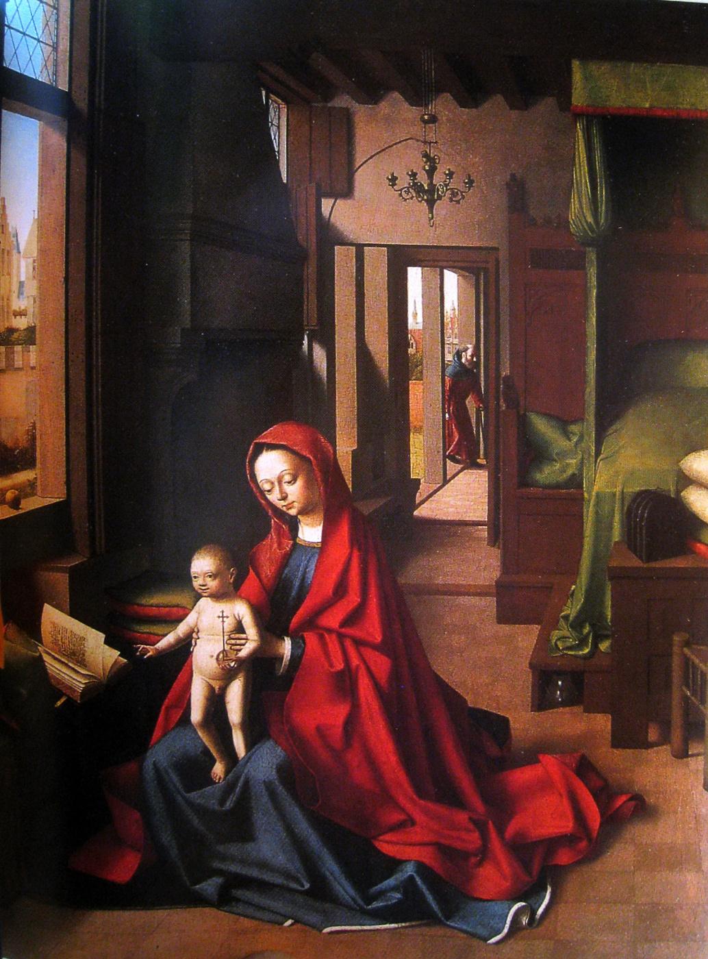 Petrus Christus. The Madonna and child in the interior