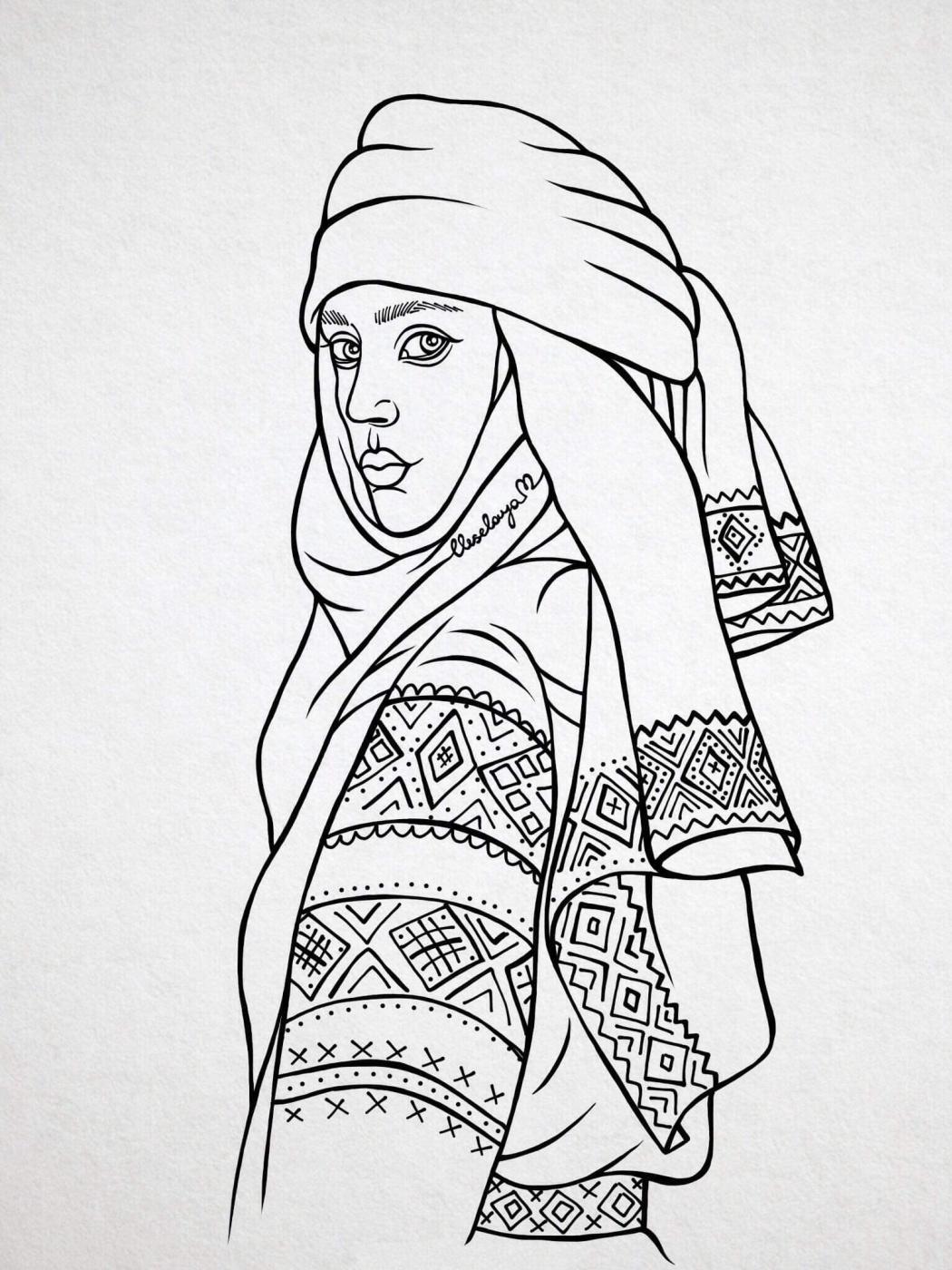 Mari Veselaya. Slavic girl