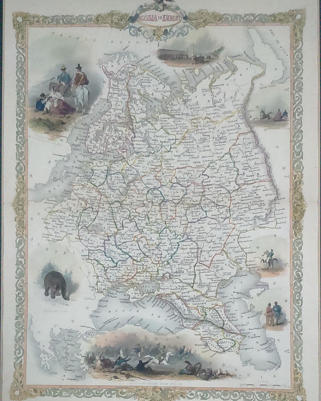 Unknown artist. Карта европейской части Российской Империи