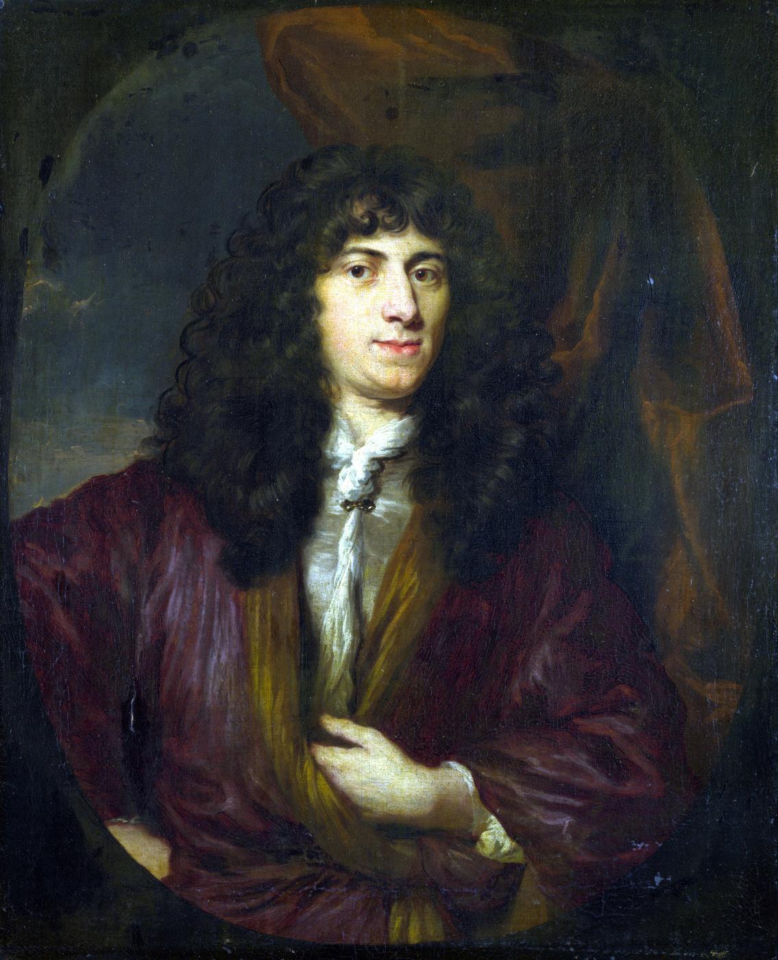 Nicholas Mas. Portrait of a man in a black wig