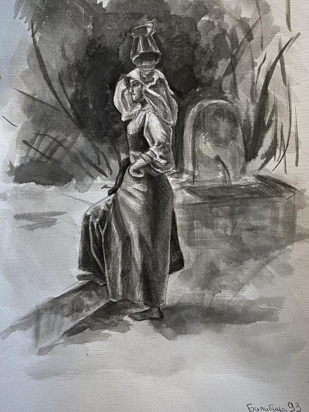 Alisa Bilibina. Copy of Bryullov's sketch