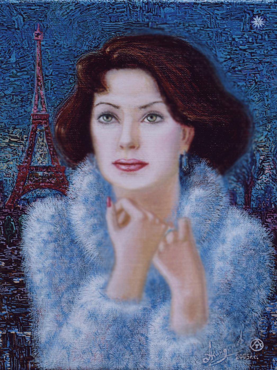 Алексей Петрович Акиндинов. Star of French cinema, portrait of Anna Pakhomova