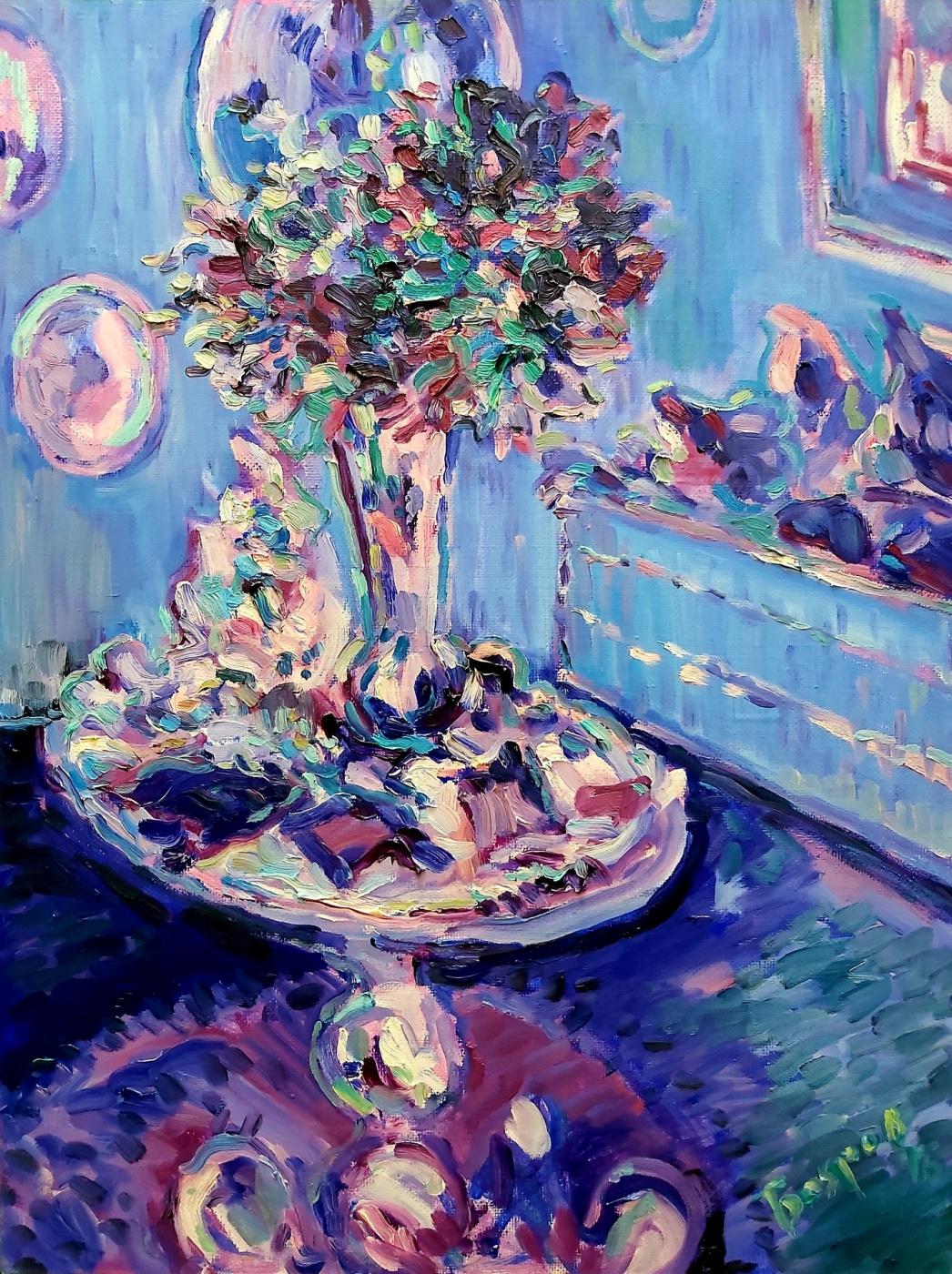 Alexander Mukha / Mukhomedeev-Boyarov. Bouquet Faberge Blue