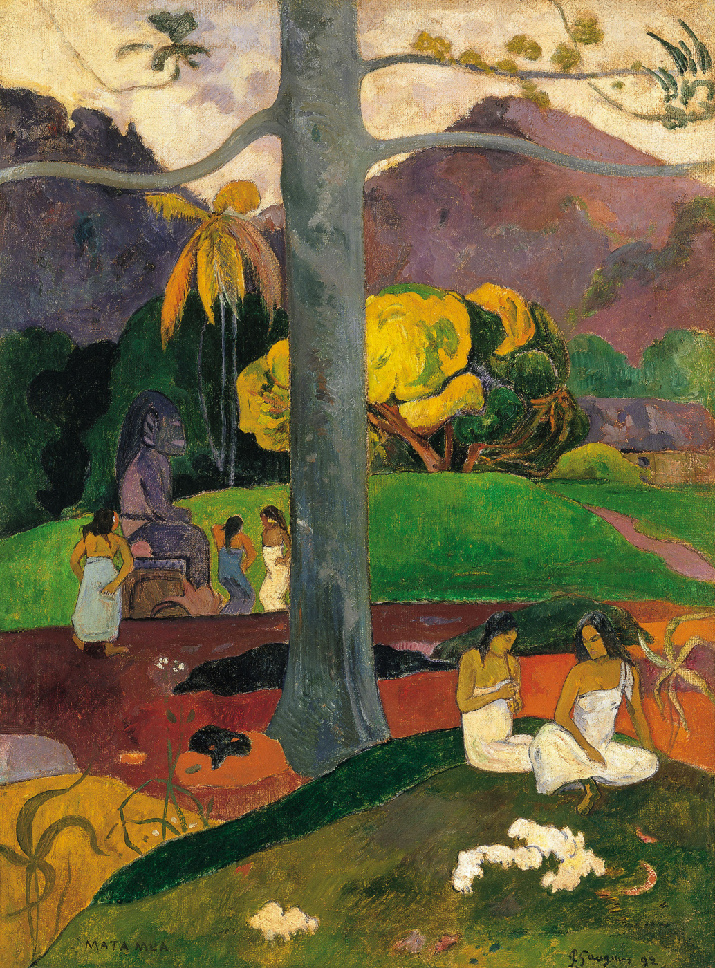 Paul Gauguin. The old days
