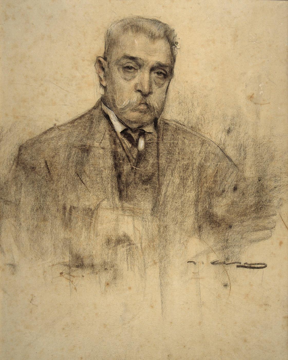 Ramon Casas i Carbó. Portrait of Per Falkes