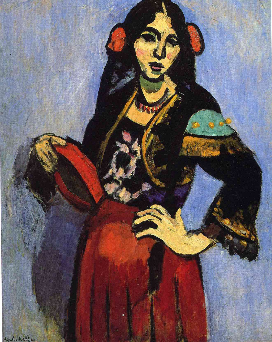 Henri Matisse. Spanish Woman with a Tambourine
