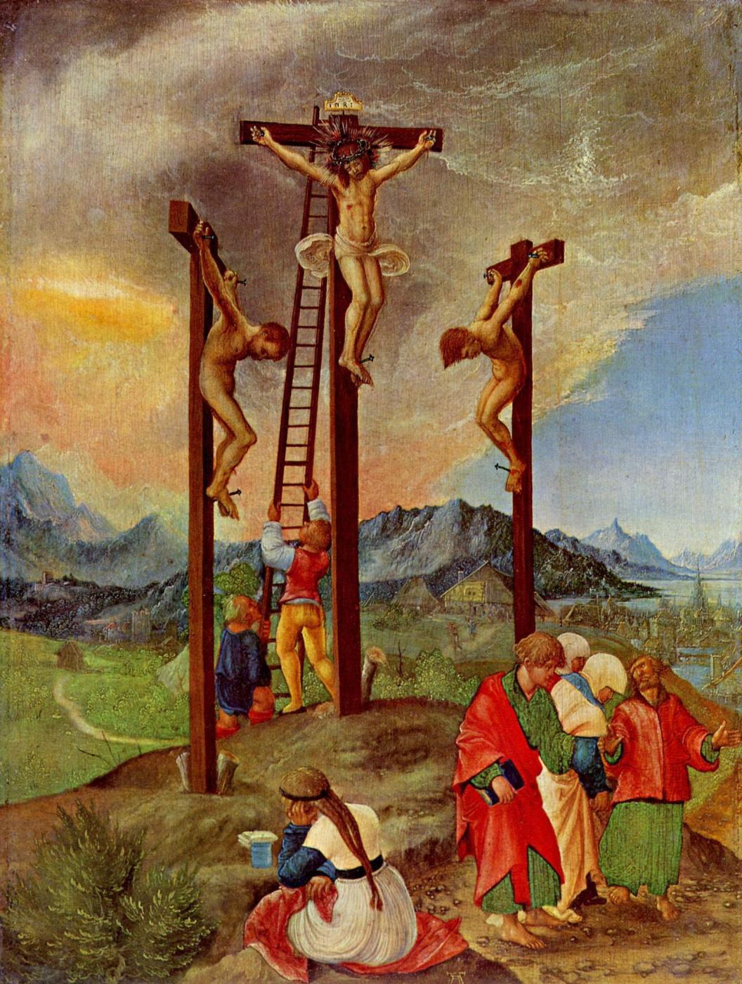 Albrecht Altdorfer. The Crucifixion Of Christ