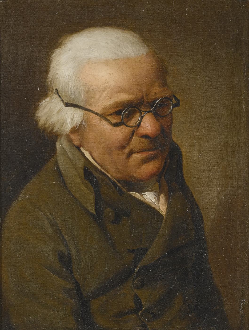 Louis-Leopold Boi. Portrait of a gray-haired man with glasses