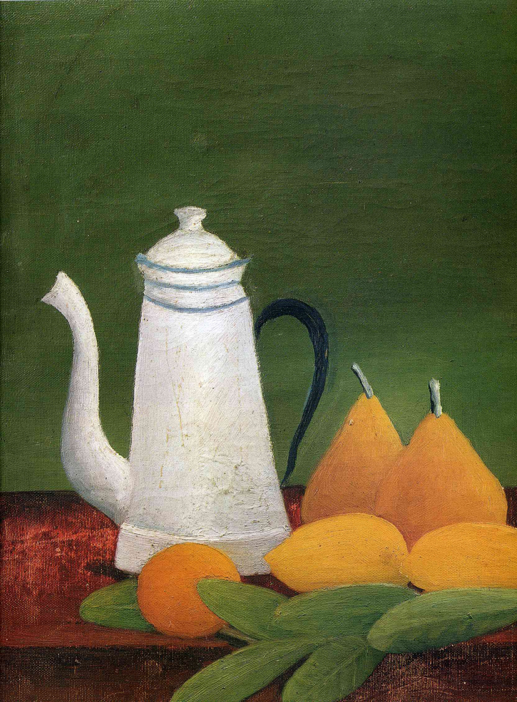 Henri Rousseau. Still life with pears. Fragment