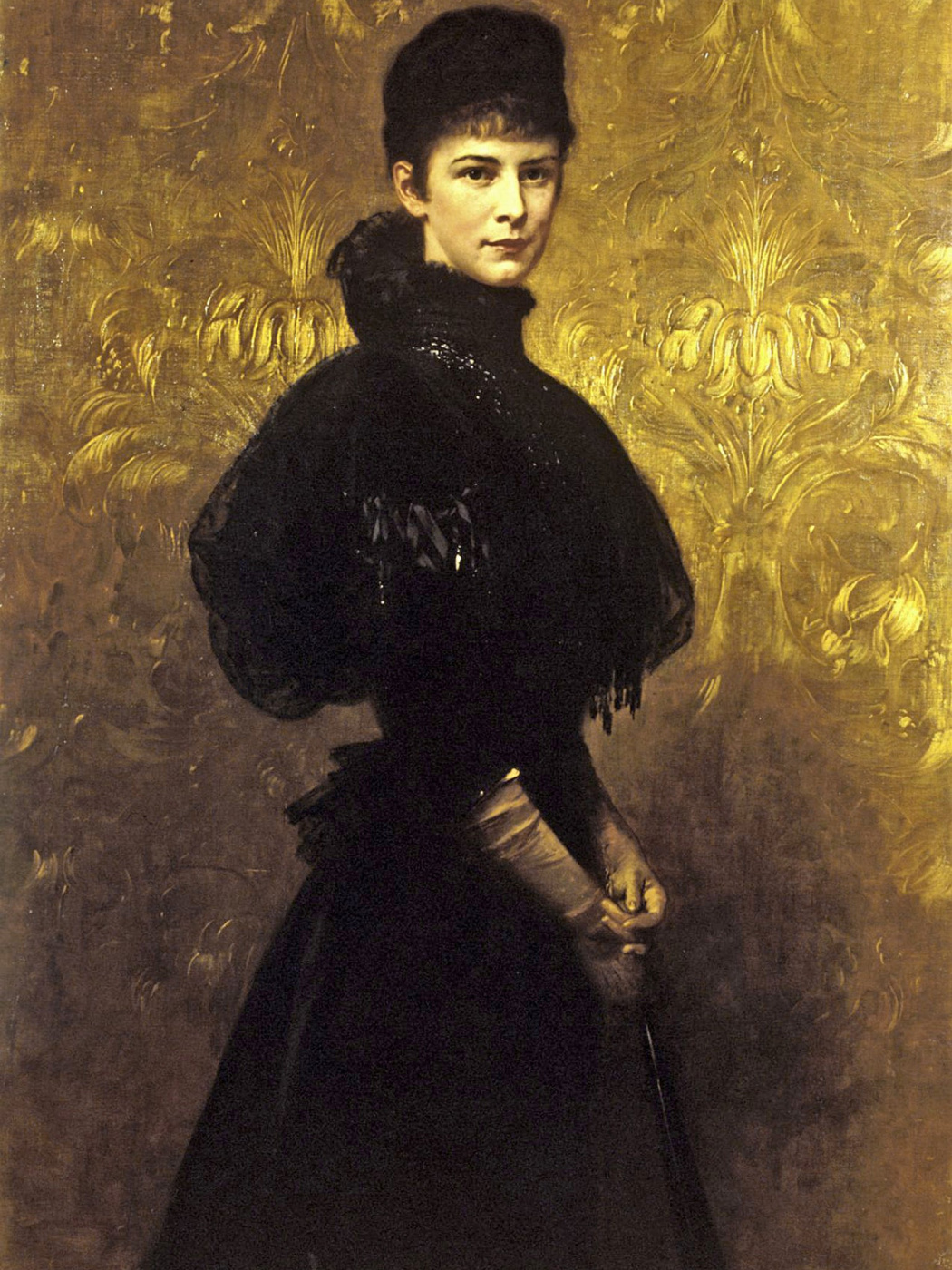 Gyula Benzur. Empress Elizabeth of Austria in mourning dress