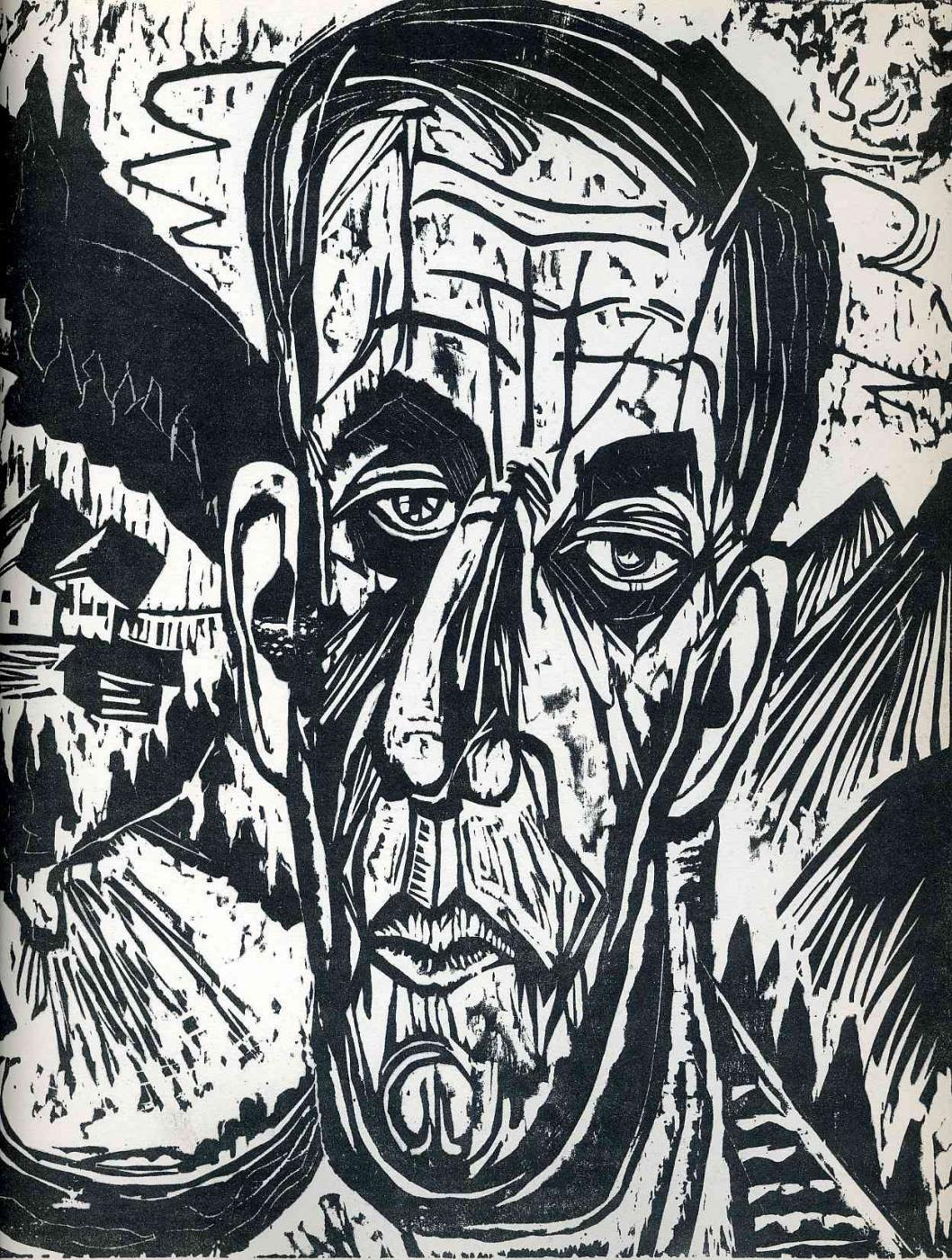 Ernst Ludwig Kirchner. Portrait of Henry van de Velde