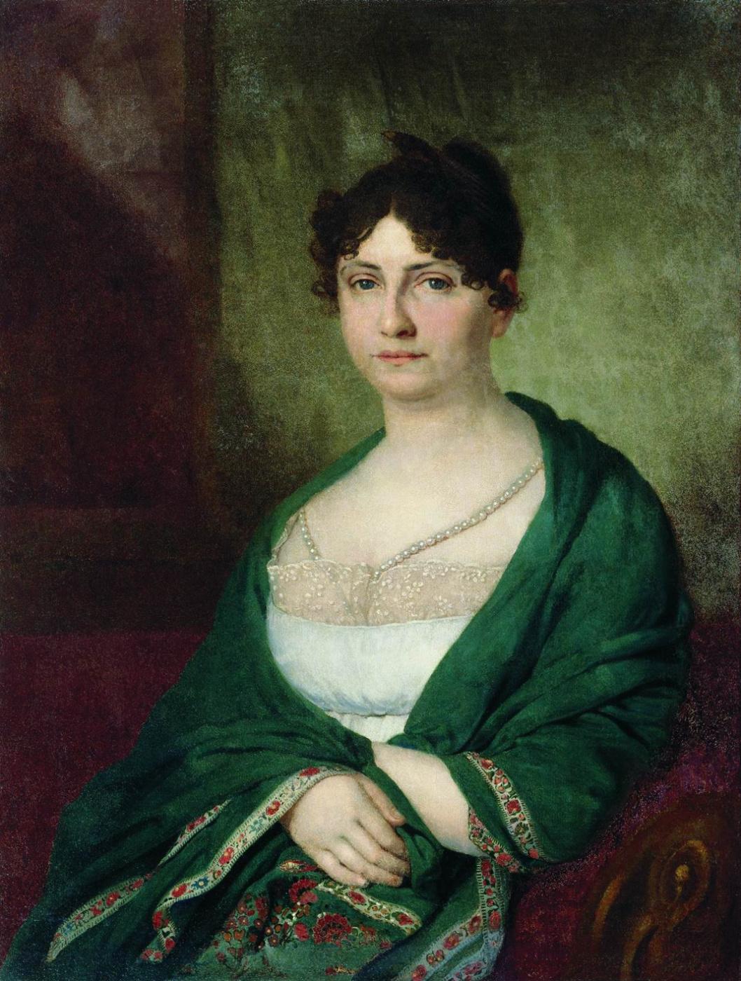 Vladimir Borovikovsky. Portrait of Melania Ivanovna Golubtsova, nee Galler