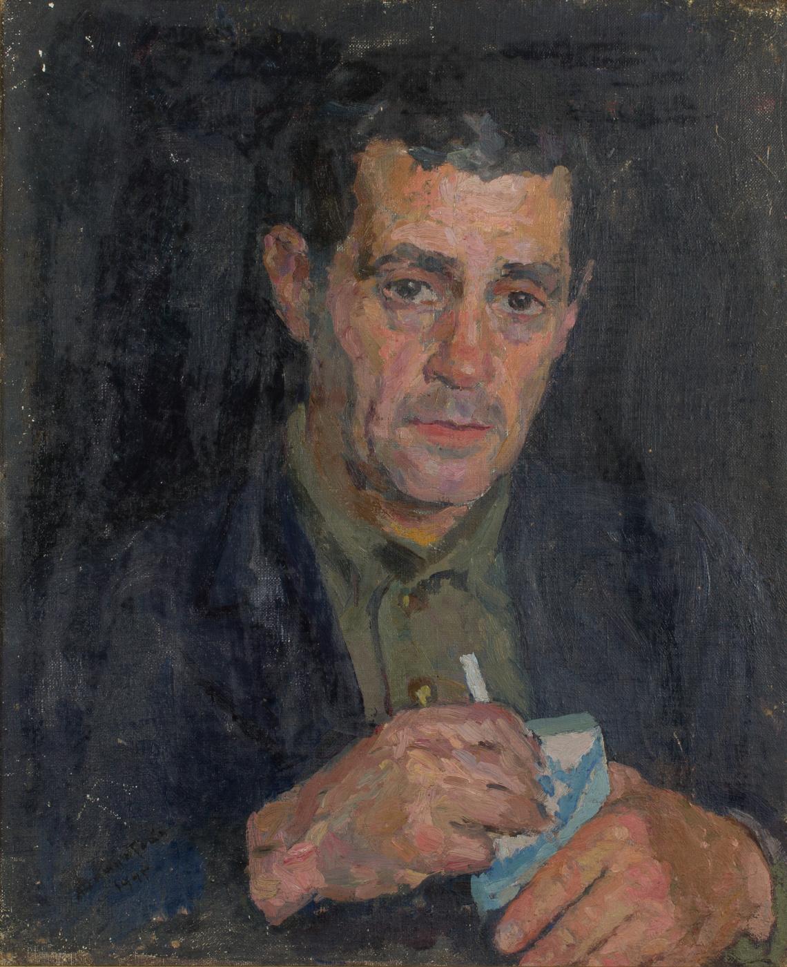 Mark Grigorievich Weinstein. Portrait with a white sea