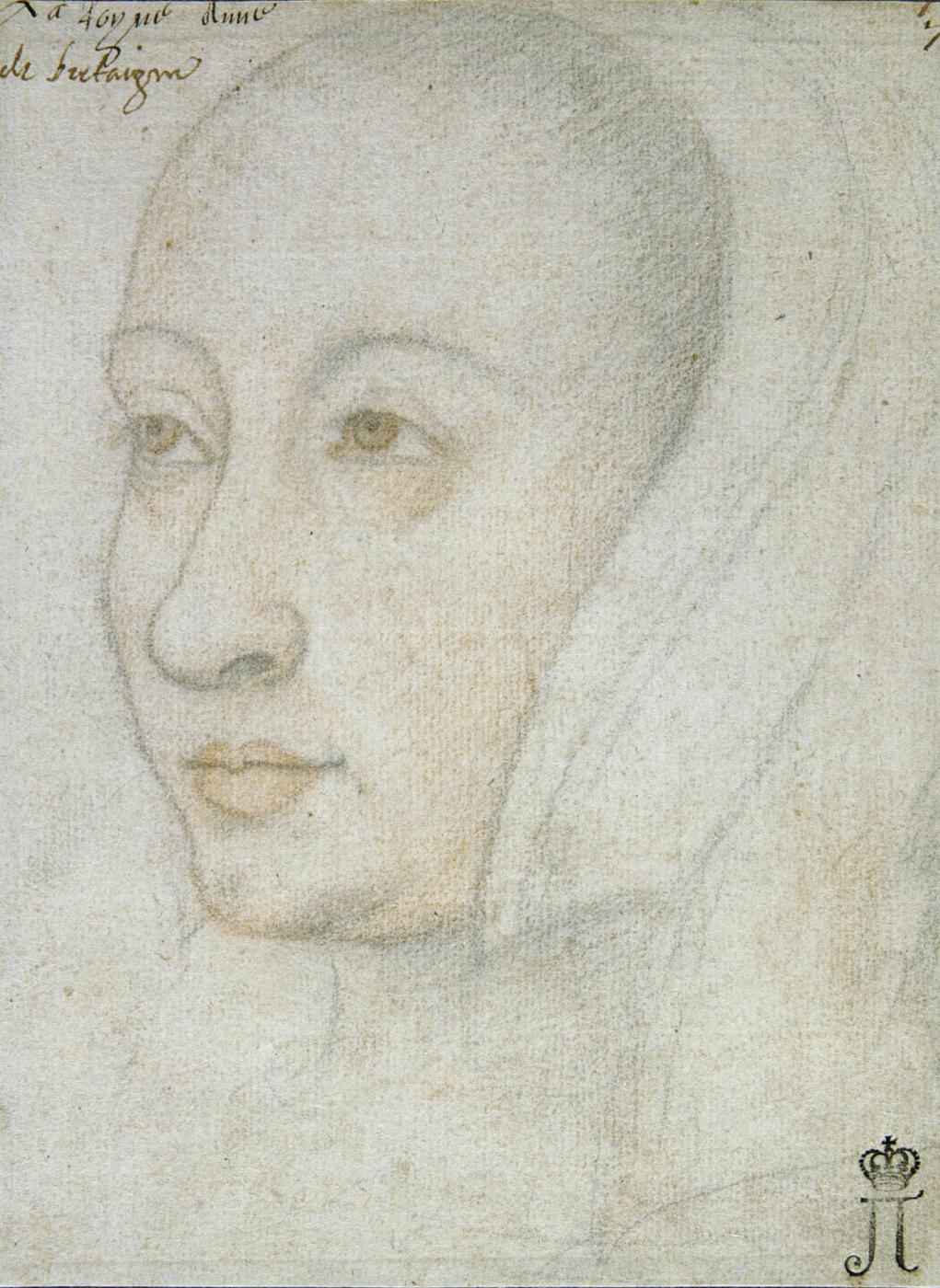 Jean burdishon. Portrait of Anna of Brittany.