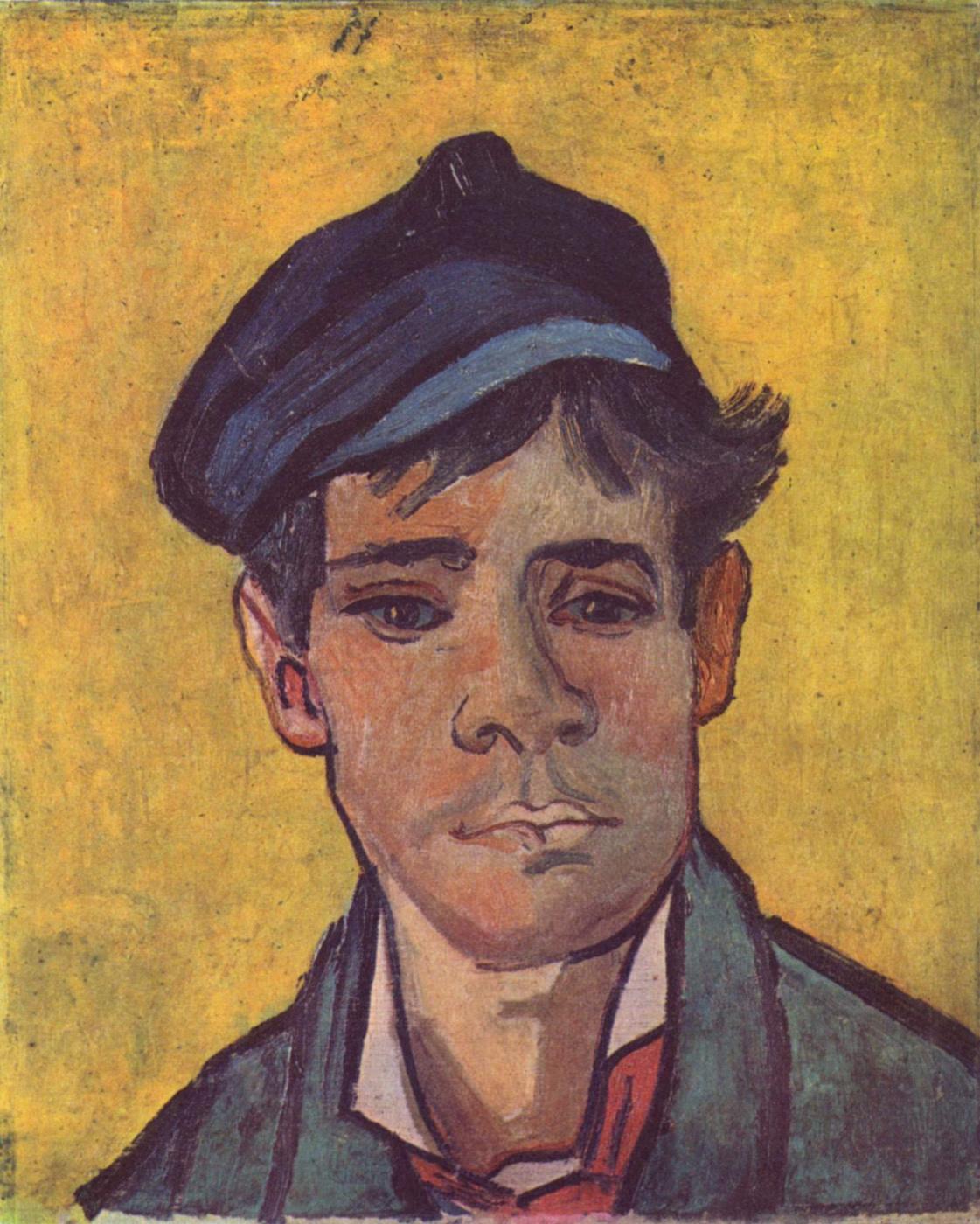 Vincent van Gogh. Young man in hat