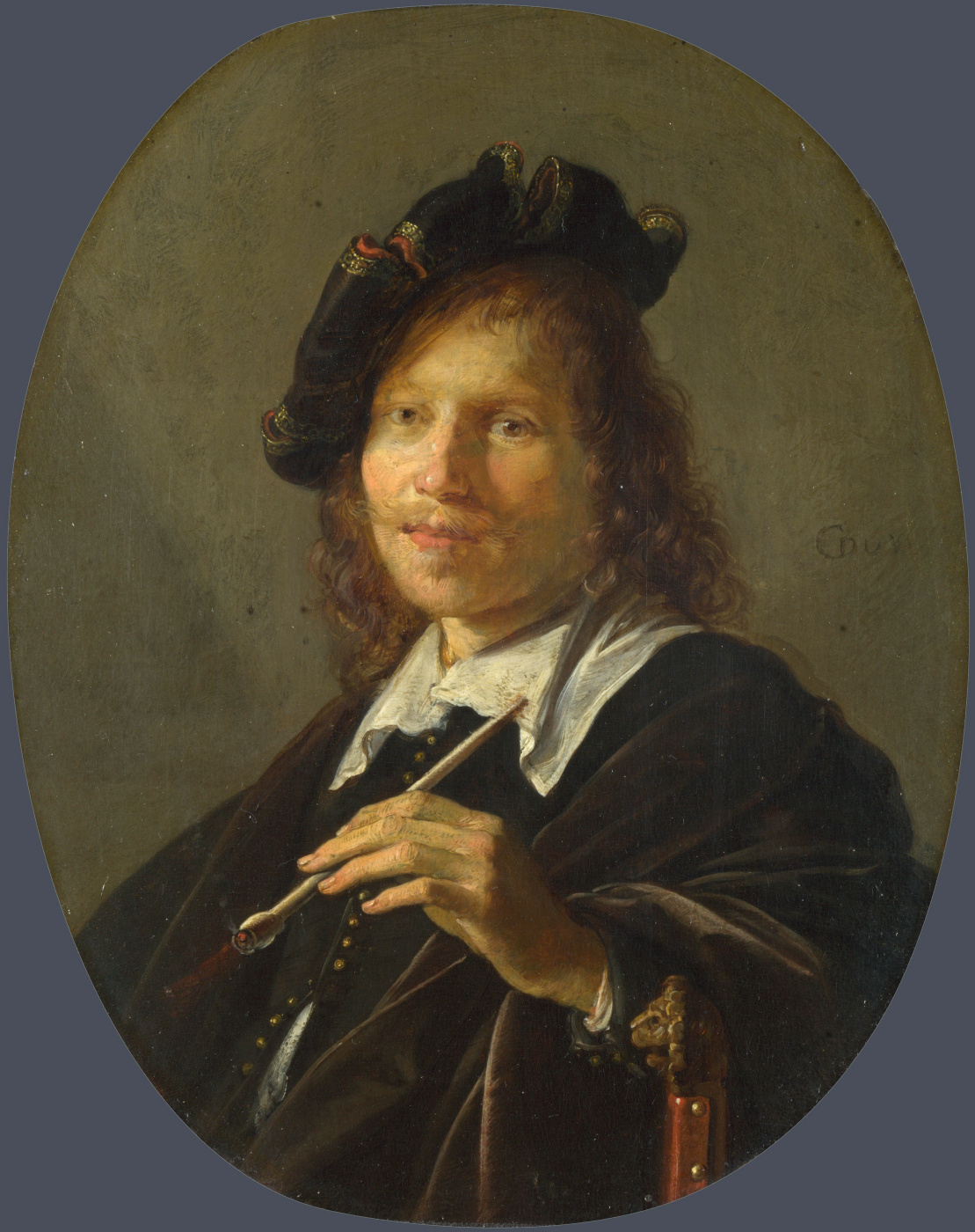 Gerrit (Gerard) Dow. Portrait of a man (Man with pipe)