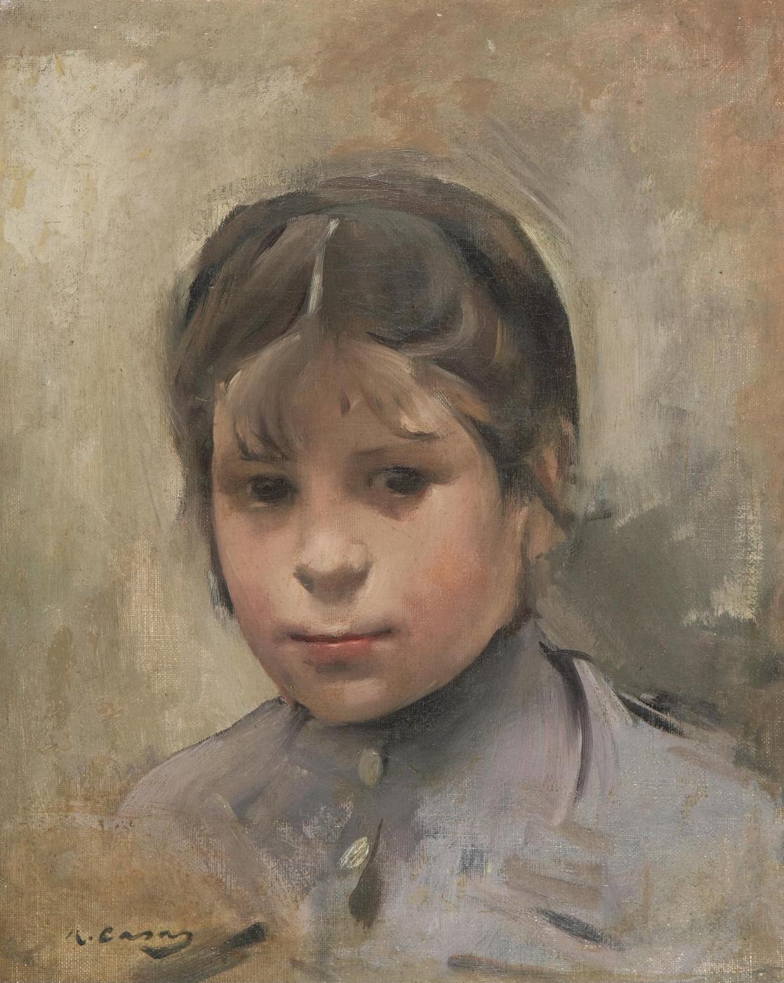 Ramon Casas i Carbó. Portrait of a girl