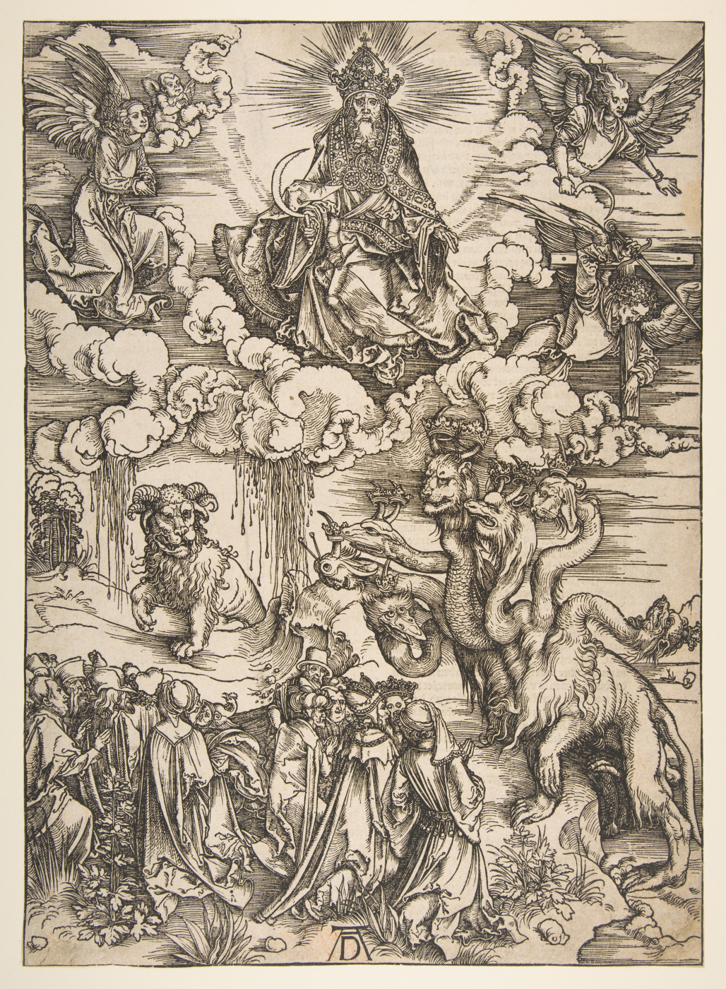 Albrecht Dürer. The seven-headed dragon and the horned beast