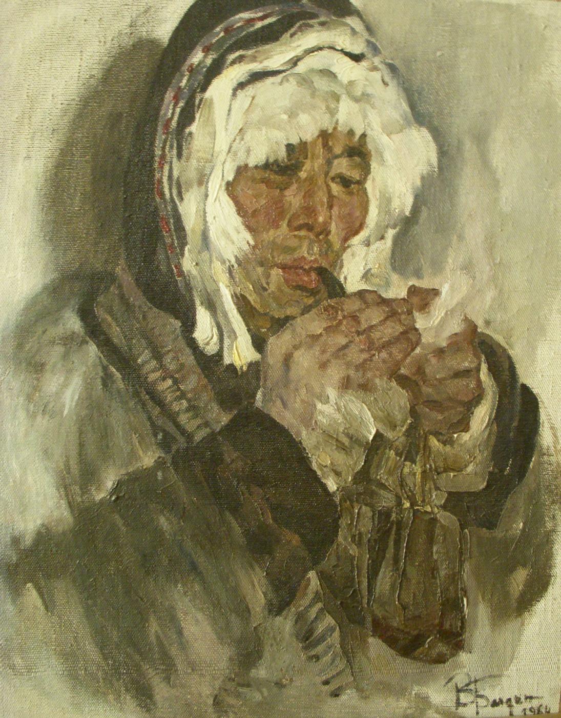 Vadim Anatolievich Baldin. The musher puffing up.