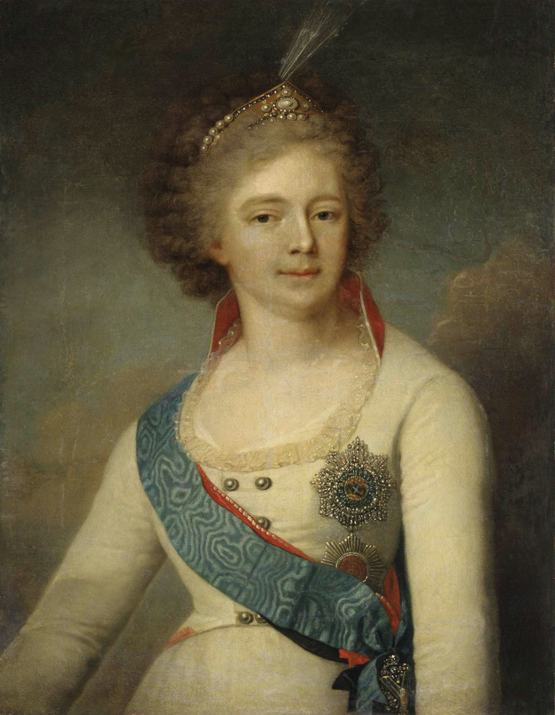 Vladimir Borovikovsky. Portrait of Maria Fyodorovna, wife of Paul I, in a cavalry guard uniform