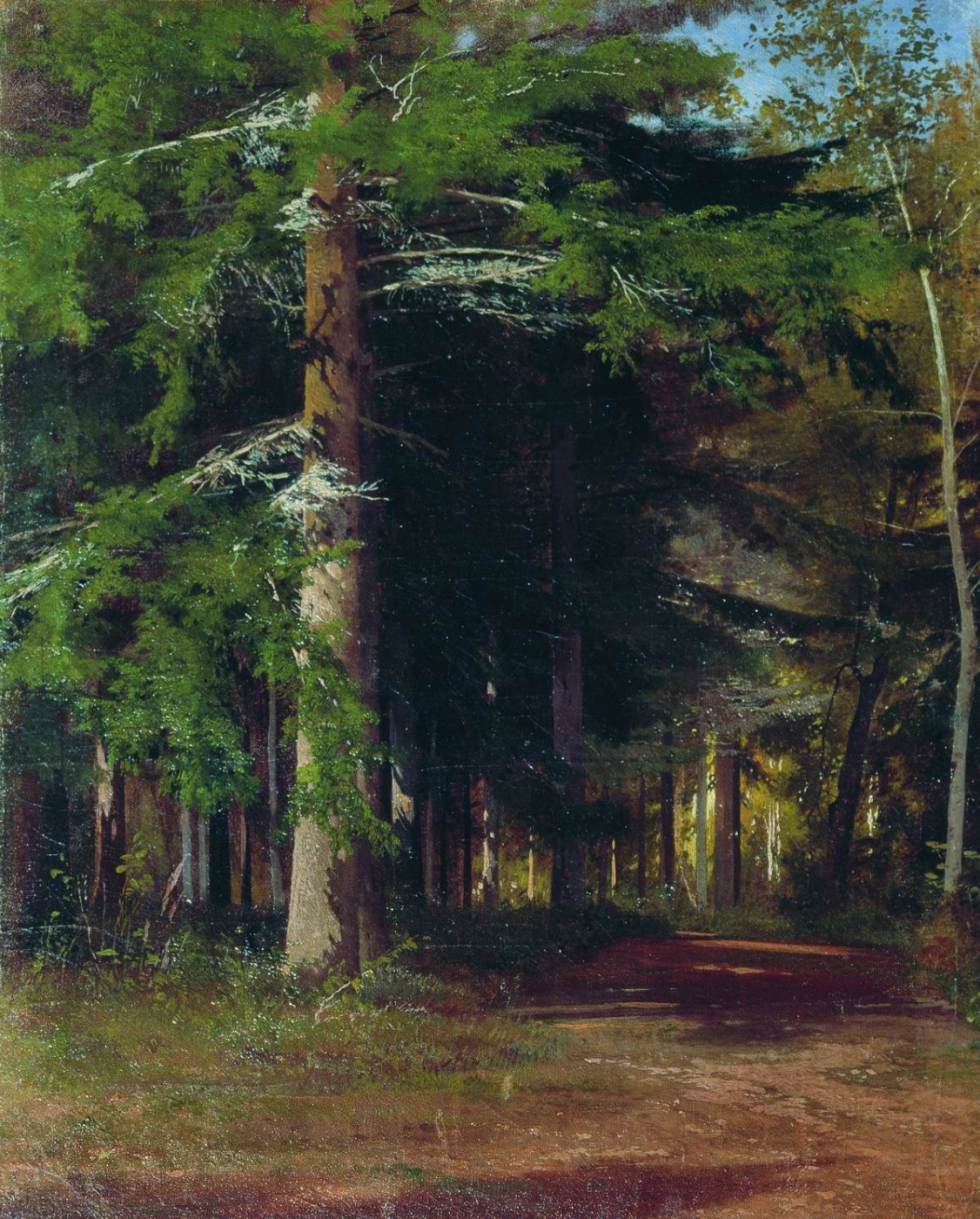 "Ivan Ivanovich Shishkin. Study for the painting ""Chopping wood"""
