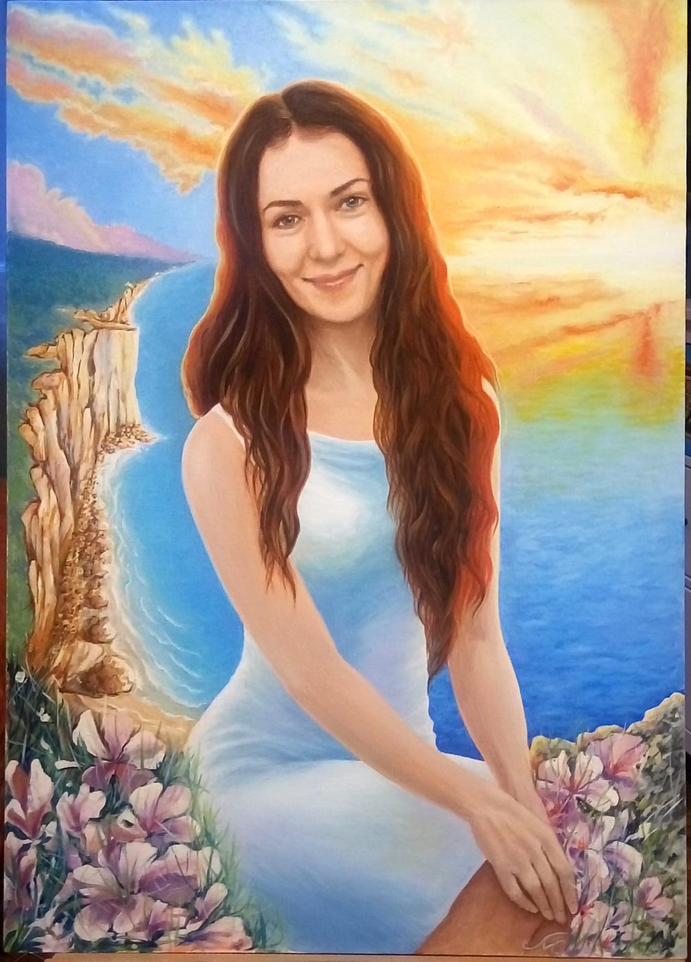 Natalia Moshina-Turusinova. Portrait by photo