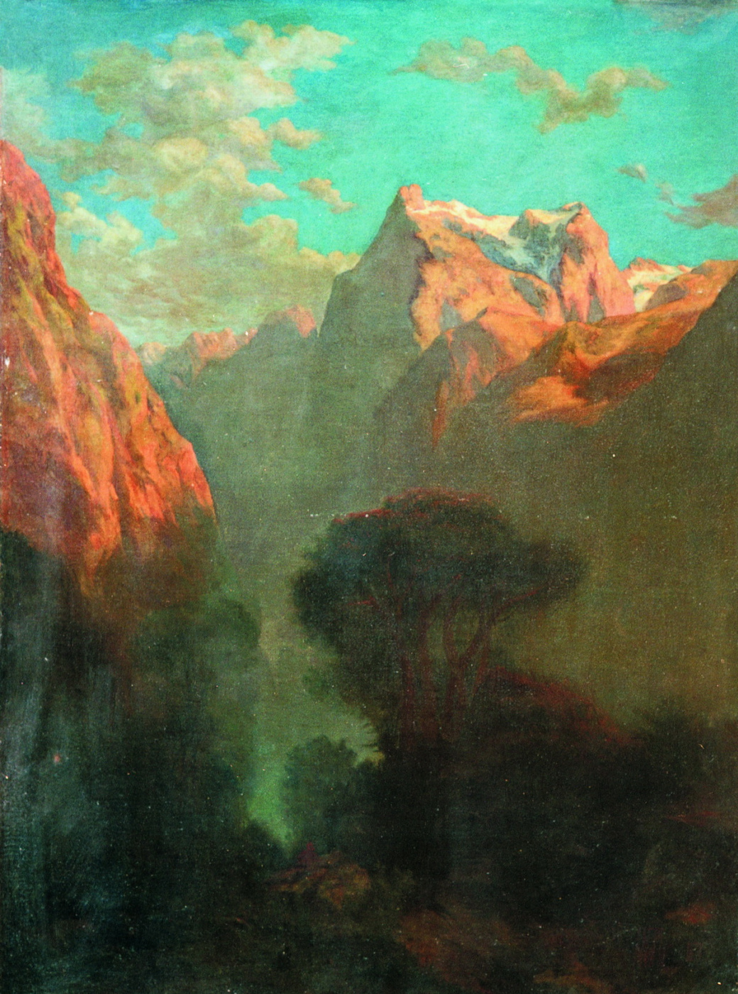 Lev Feliksovich Lagorio. Gorge in the mountains
