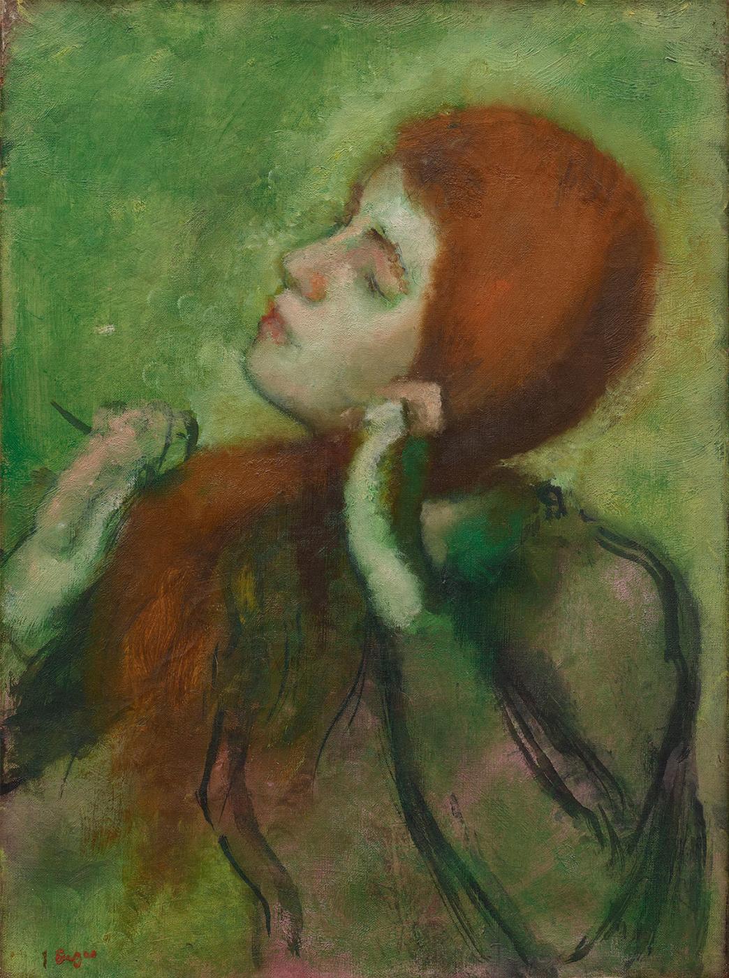Edgar Degas. Woman combing hair