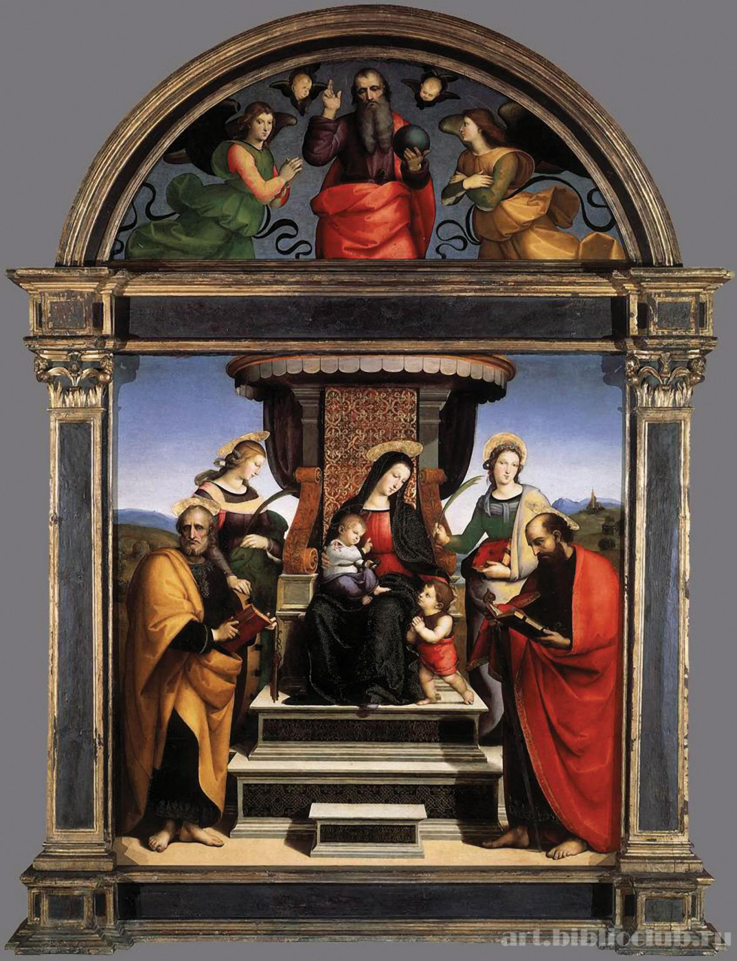 Altar of the Colonna: Madonna and child enthroned with saints (Madonna of the altar)