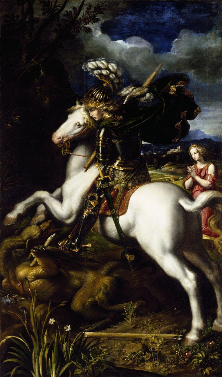 Dosso Dossi. Saint George defeats the dragon