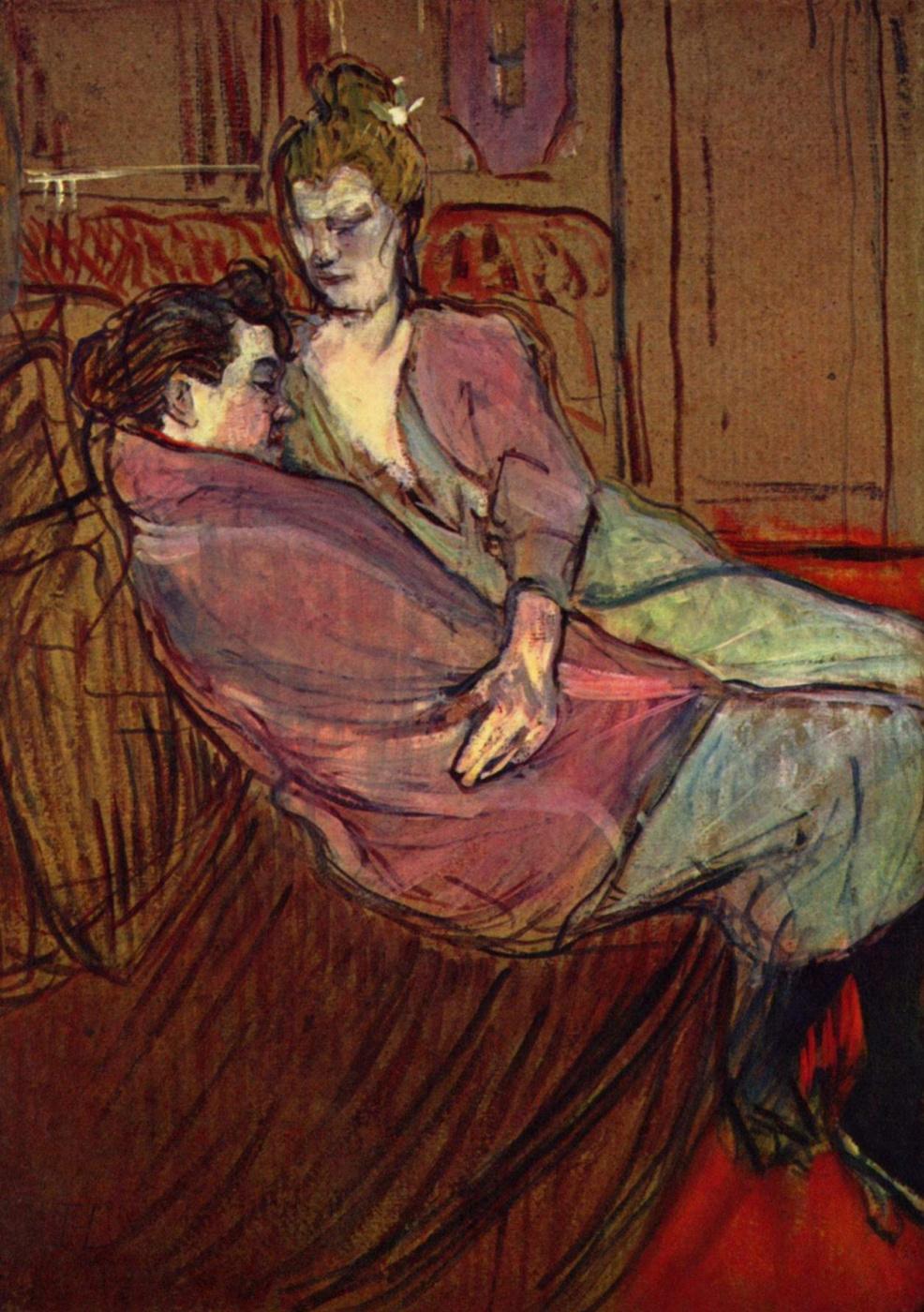 Henri de Toulouse-Lautrec. Two friends