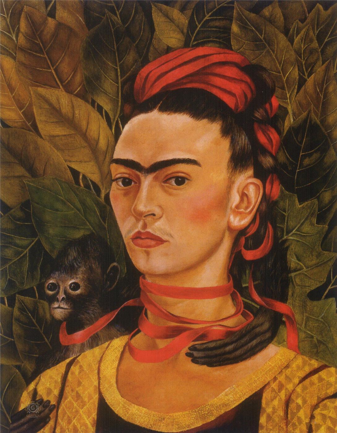 Frida Kahlo. Self-portrait with monkey