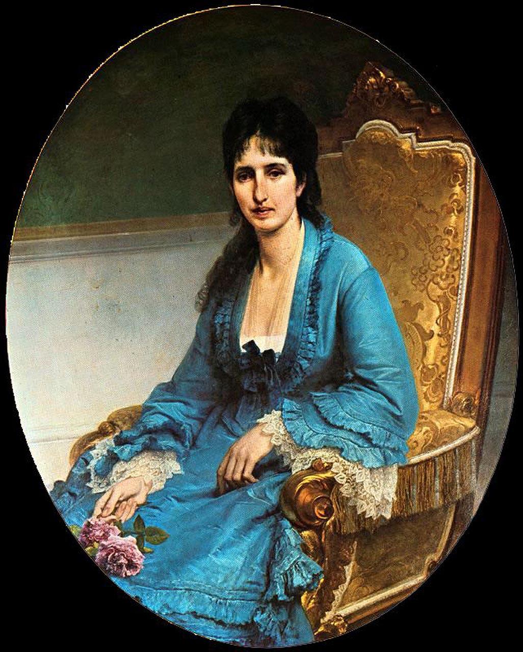 Francesco Ayets. Portrait of Antonietta Negroni Prati Morosini