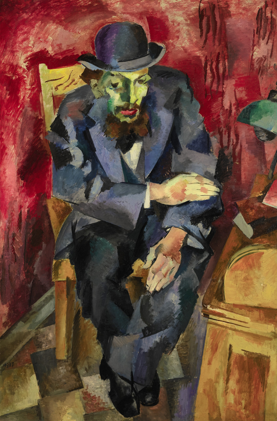 Роберт Рафаилович Фальк. Мужчина в котелке. Портрет Якова Каган-Шабшая