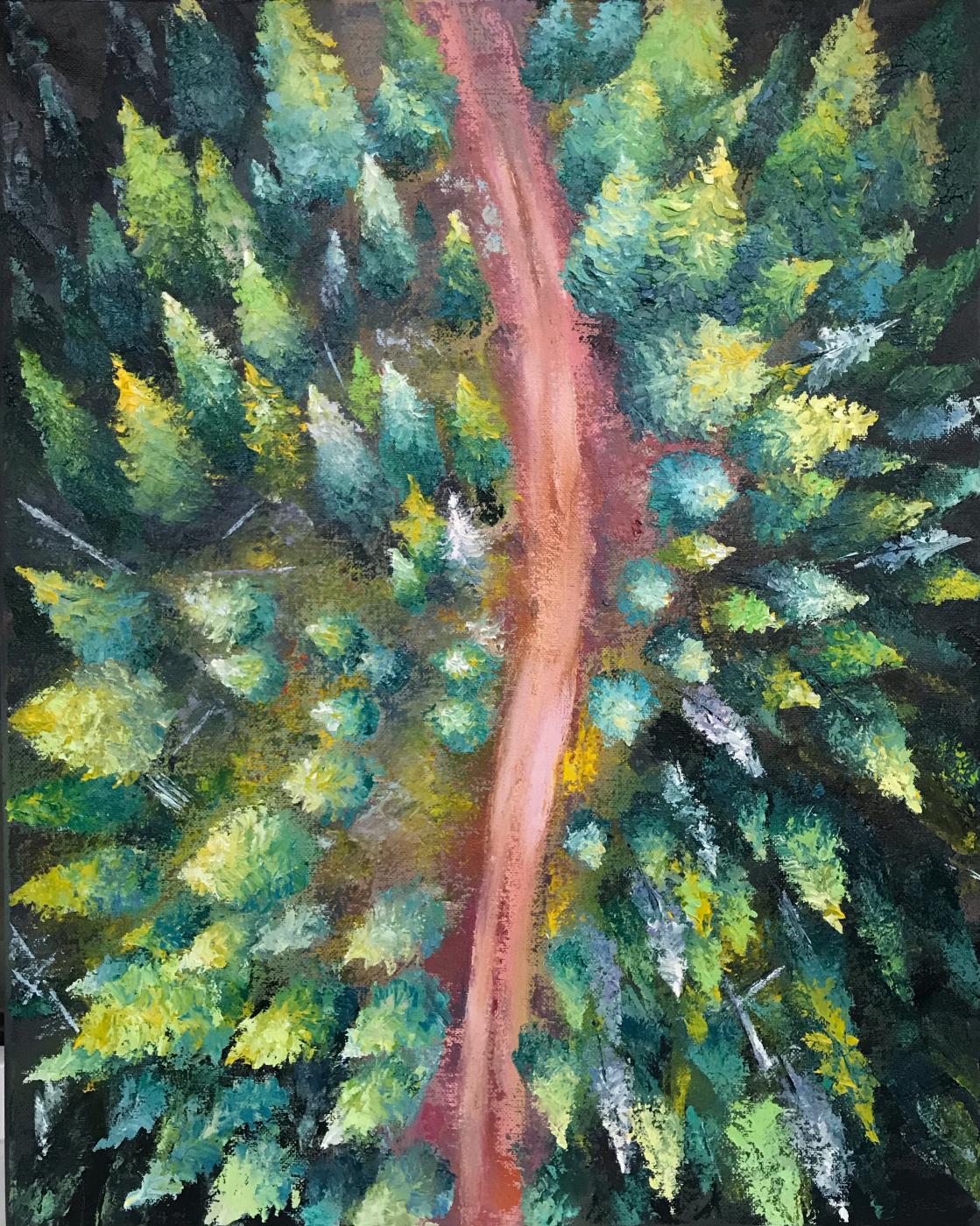 Anastasia Oraina. Over the forest