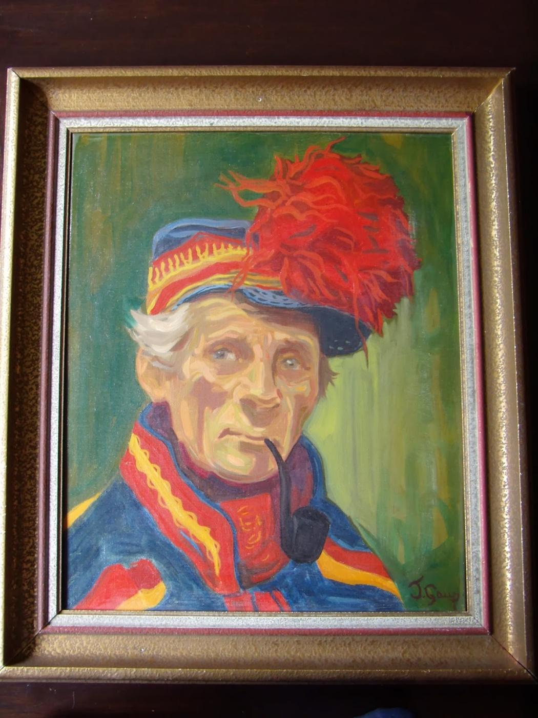 Unknown artist. Portrait of a Saami. / Laplander.