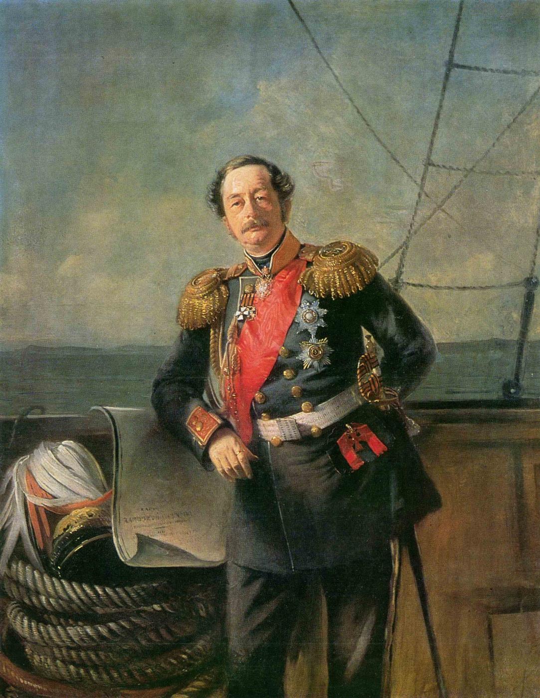 Konstantin Makovsky. Portrait of Governor-General of Eastern Siberia count N. N. Muravyov-Amursky