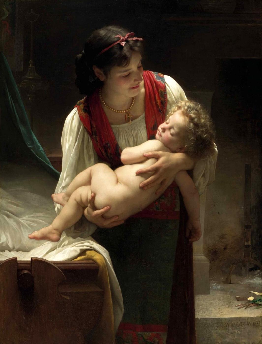 William-Adolphe Bouguereau. Lullaby