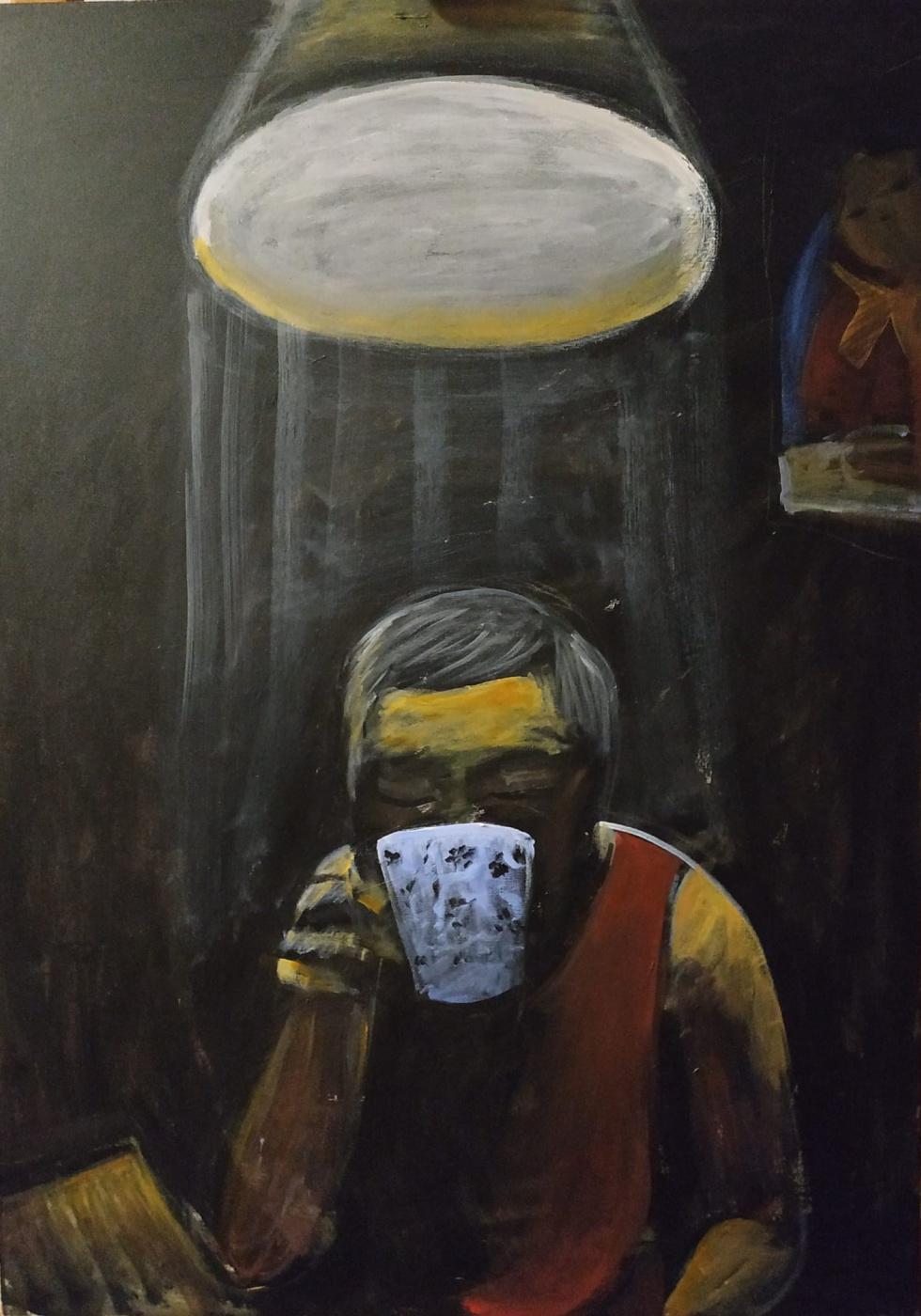 Indira Baldano. Night tea.