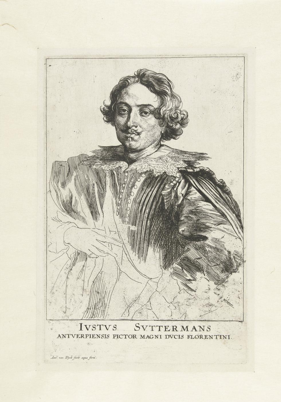 Anthony van Dyck. Portrait of Justus van Watermans