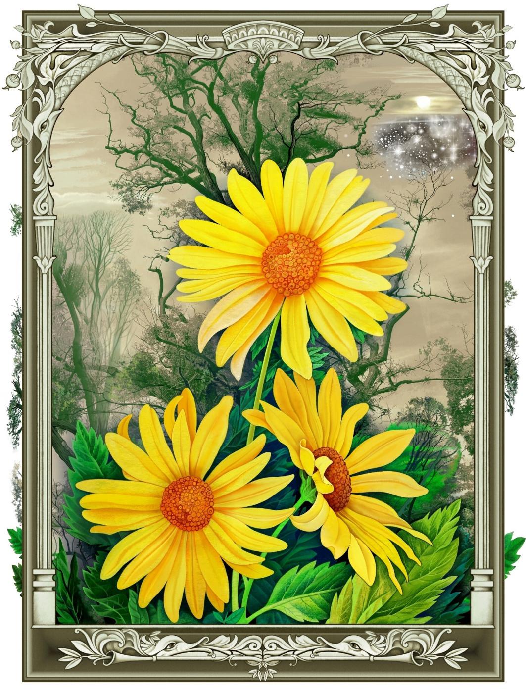Konstantin Avdeev. Yellow flowers