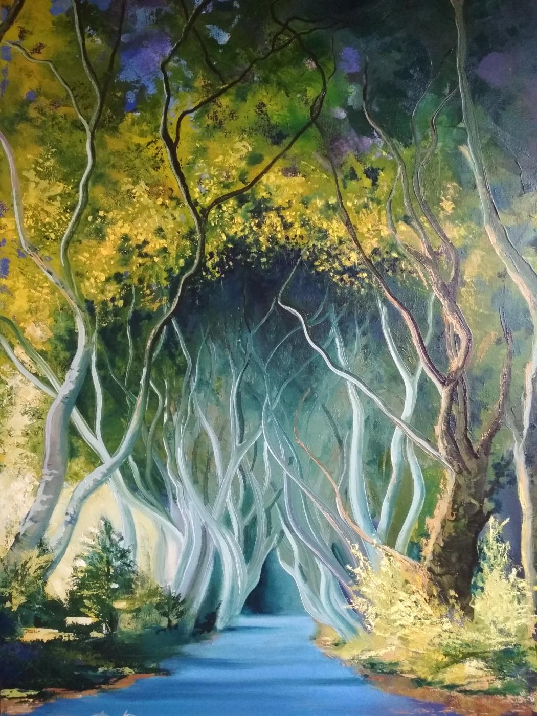 Ruzana Mukhamedovna Datsirkhoeva. Road to Stewart Mansion (Century Trees in Northern Ireland)